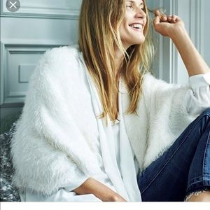 Anthropologie Knitted & Knotted Cardigan Cream